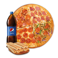 PAQUETE PIZZA 4 ONLY ONLINE